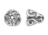 TierraCast Antique Silver Lily Cone Bead Cap each