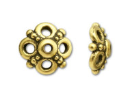 TierraCast Antique Gold Clover Bead Cap each