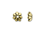 TierraCast Antique Gold 5mm Petal Bead Cap each