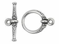 TierraCast Antique Silver Heirloom Toggle Clasp Set each