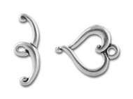 TierraCast Antique Silver Jubilee Toggle Clasp Set each