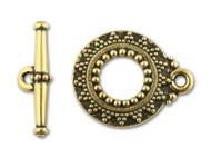 TierraCast Antique Gold Bali Toggle Clasp Set each