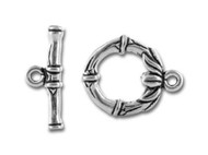 TierraCast Antique Silver Bamboo Toggle Clasp Set each