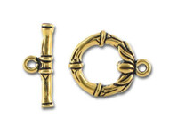TierraCast Antique Gold Bamboo Toggle Clasp Set each