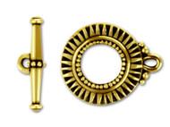 TierraCast Antique Gold Sunburst Toggle Clasp Set each