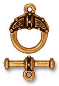 TierraCast Antique Gold Celtic Toggle Clasp Set each