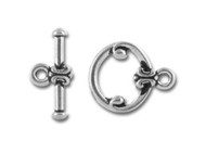 TierraCast Antique Silver Classic Toggle Clasp Set each