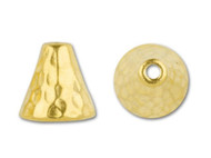 TierraCast Bright Gold Hammertone Cone Bead Cap each
