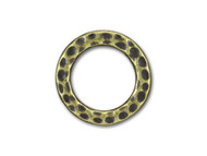 TierraCast Antique Brass Medium Hammered Ring Link each