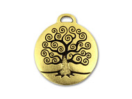 TierraCast Antique Gold Tree of Life Drop Pendant each