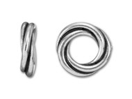 TierraCast 12mm Antique Silver Twisted Spacer Bead each
