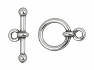 "TierraCast 1/2"" Antique Silver Anna's Toggle Clasp Set each"