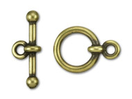 "TierraCast 1/2"" Antique Brass Anna's Toggle Clasp Set each"