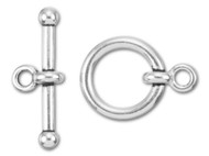 "TierraCast 3/4"" Antique Silver Anna's Toggle Clasp Set each (35721)"