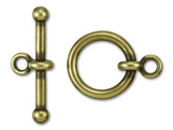 "TierraCast 3/4"" Antique Brass Anna's Toggle Clasp Set - Each (35725)"