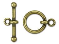 "TierraCast 3/4"" Antique Brass Anna's Toggle Clasp Set - Each (35725)"