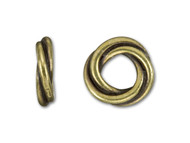 TierraCast 10mm Antique Brass Twisted Spacer Bead each
