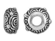Tierracast 11mm Antique Silver Spiral Large Hole Bead each (35647)