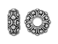 Tierracast 12mm Antique Silver Casbah Large Hole Bead each (35653)