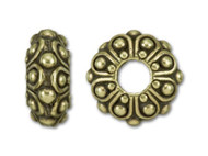 Tierracast 12mm Antique Brass Casbah Large Hole Bead each (35657)