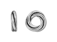 TierraCast 10mm Antique Silver Twisted Spacer Bead each