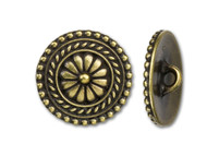 TierraCast Antique Brass Bali Button each