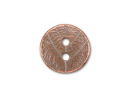 TierraCast Antique Copper Round Leaf Button each