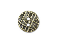 TierraCast Antique Brass Round Coin Button each