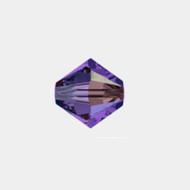 Swarovski 4mm Purple Velvet AB Bicone/Xilion 5328/5301 1440 PCS