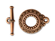 TierraCast Antique Copper Bali Toggle Clasp Set each