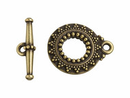 TierraCast Antique Brass Bali Toggle Clasp Set each