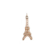Charm Eiffel Tower 25mm with CZ Rose Gold Plated - each