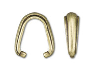 TierraCast Antique Brass Nouveau Pinch Bail each (39234)