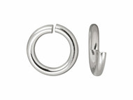 TierraCast 6mm Bright Silver Heavy Jump Ring 100 pieces