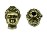 TierraCast Antique Brass Buddha Bead each (42045)