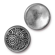 TierraCast Antique Pewter Spirals Snap Cap Line 20 each