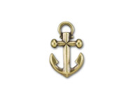 TierraCast Antique Brass Small Anchor Pendant Charm each