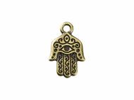 TierraCast Antique Brass Hamsa Charm each