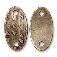 TierraCast Antique Brass Rock & Roll Oval Link each