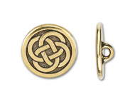 TierraCast Antique Gold Celtic Knot Button each
