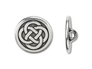 TierraCast Antique Silver Celtic Knot Button each