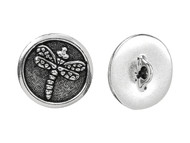 TierraCast Antique Silver Dragonfly Button each