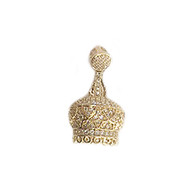 Crown Pendant Gold-Plated Copper with Cubic Zirconias 30mm