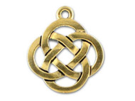 TierraCast Antique Gold Open Round Celtic Pendant each