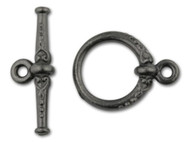 TierraCast Black Heirloom Toggle Clasp Set each