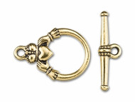 TierraCast Antique Gold Claddagh Toggle Clasp Set each