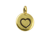 TierraCast Antique Gold Heart Charm each