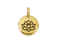 TierraCast Antique Gold Lotus Charm each