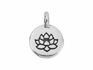 TierraCast Antique Silver Lotus Charm each