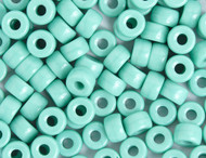 Crow Bead - Glass Opaque Turquoise 6mm